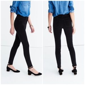 "Madewell black 9"" high rise skinny"